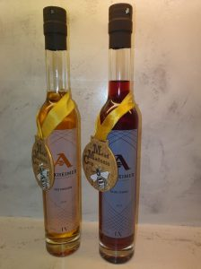 Askheimer mead with Mead Madness Gold Medals